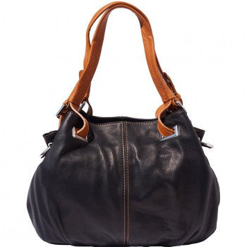 Soft Leather Shoulder Tote - Helena