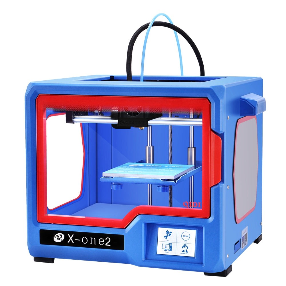 QIDI TECH 3D Printer impresora 3d X-one2 Fully Metal Structure 3.5 Inch Touchscreen heat bed PLA and ABS 150*150*150