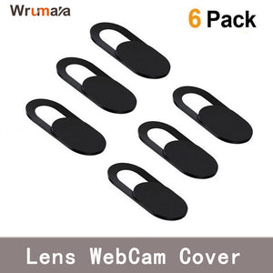 6PCS Universal WebCam Cover Shutter Magnet Slider Plastic Camera Cover for IPhone PC Laptops Mobile Phone Lens Privacy Sticker