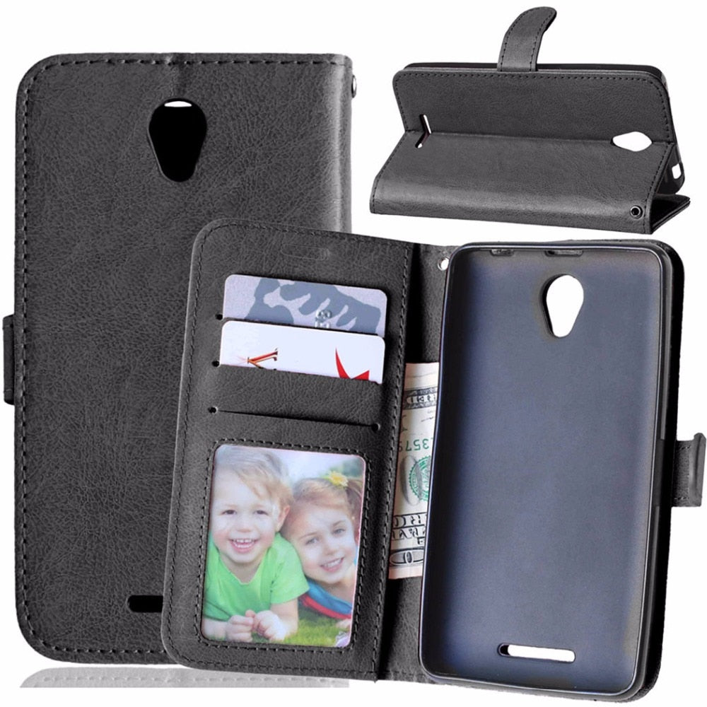 Original Phone Case for Lenovo A5000 Luxury Flip Leather Cover for Lenovo A 5000 Wallet Case with Card Holder Stand Back Covers