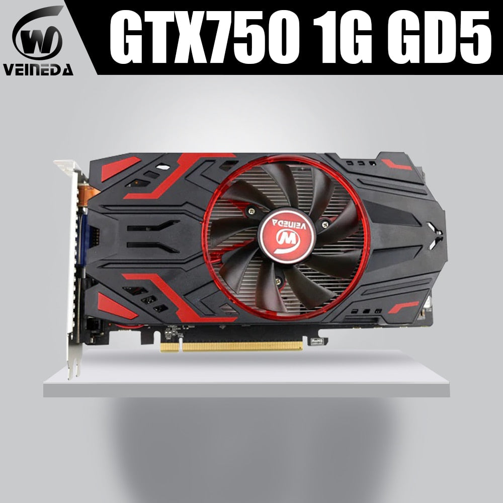 Veineda GTX750 1GB GDDR5 Graphic card Gaming Desktop computer PC Video Graphics Cards support DVI/HDMI PCI-E X16 3.0