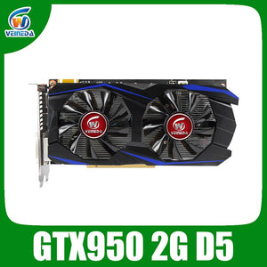 VEINEDA Graphics Card PCI-E GTX 950 2GB DDR5 128Bit Placa de Video carte graphique Video Card for nVIDIA Geforece Games