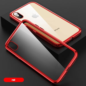 Heyytle Double Sided Glass Magnet Case For iPhone 8 7 Plus 6 6s 9 Metal Magnetic Case For iPhone X XS MAX XR 360 Full Cover Case