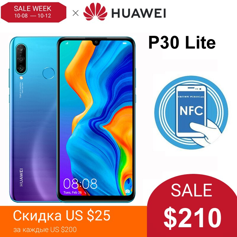 Huawei P30 Lite Smartphone Global Version 6.15 inch NFC with Google Play Mobile phone OTA Update 3340mAh Android 9 24MP Camera