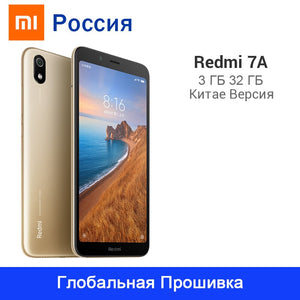 "Global ROM Xiaomi Redmi 7A 7 A 32GB ROM 3GB RAM Smartphone 4000mAh Battery 5.45"" Snapdargon 439 Octa Core 13MP Camera"