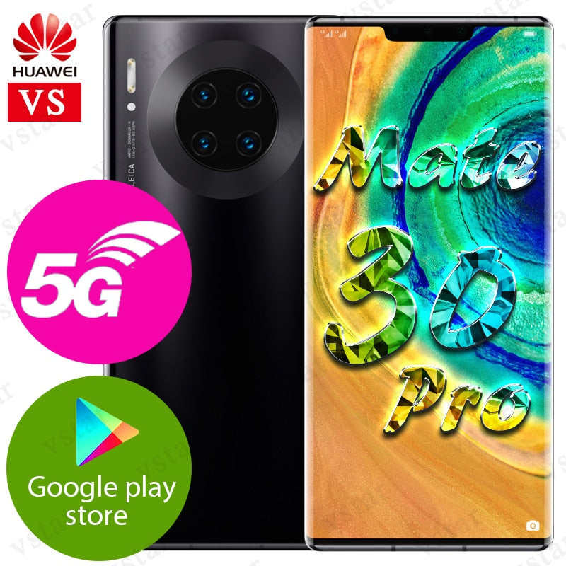 6.53 inch Original HUAWEI Mate 30 Pro 5G Version MobilePhone Kirin 990 5G Android 10 Gesture Sensor in-screen Google Play
