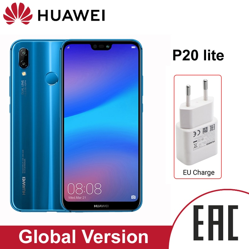 HUAWEI P20 Lite smartphone 4GB 64GB 5.84 inch AI camera 3000mAh battery  Android 8.0 Supported NFC