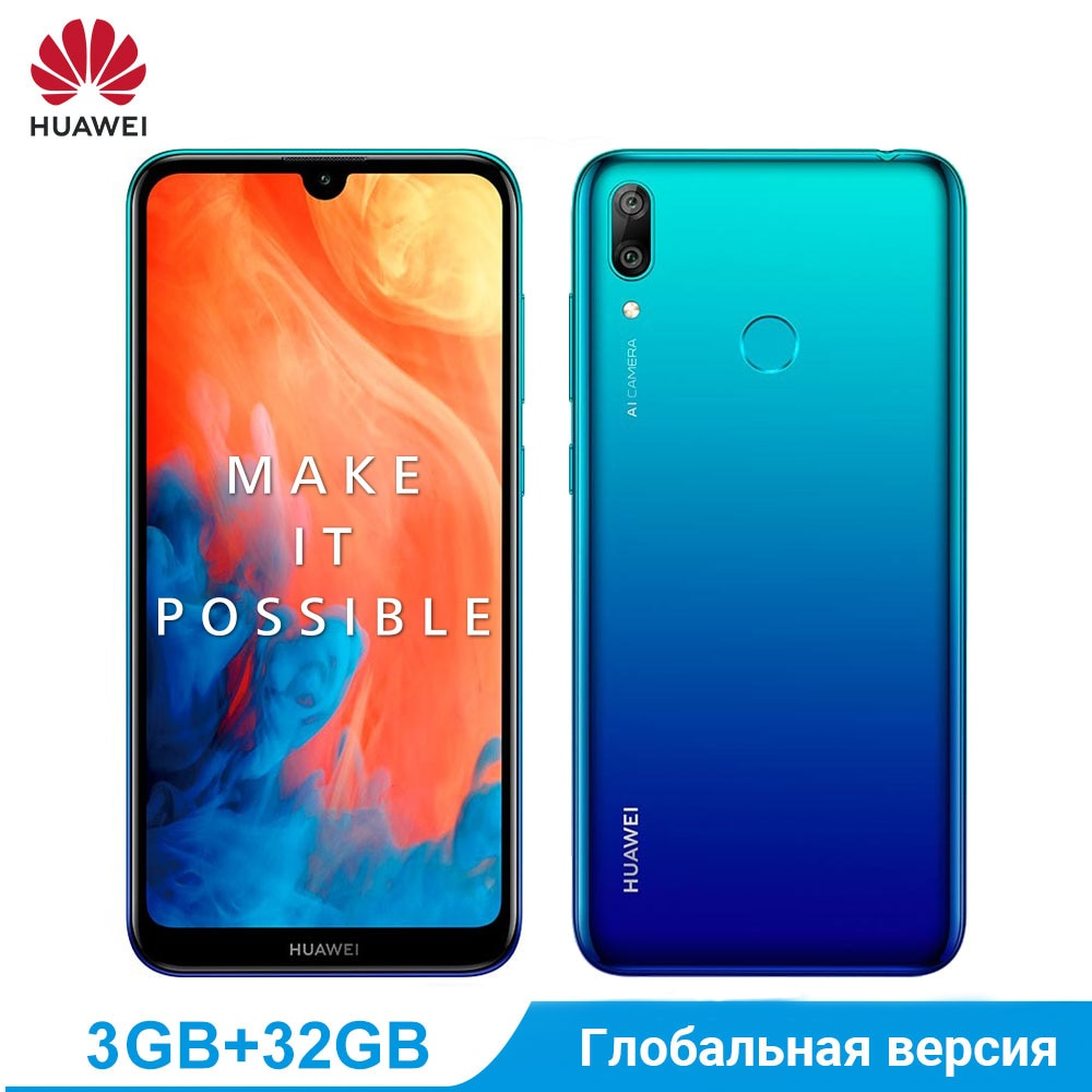 Huawei Y7 2019 global version Enjoy 9 3 GB 32 GB Smartphone Snapdragon 450 Octa Core 4000 mah mobile phone acc
