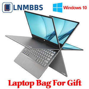 LNMBBS 360° laptop 11.6 inch notebook LPDDR4 8GB+256GB SSD 1920*1080 FHD IPS Camera Dual Wifi Bluetooth4.2 touch screen computer