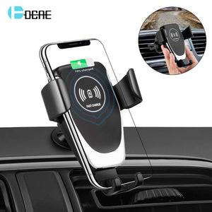 DCAE Wireless Car Charger Mount Auto Clamping Phone Holder 10W Fast Charging for iPhone 11 Pro Xs Max XR X 8 Samsung S10 S9 S8