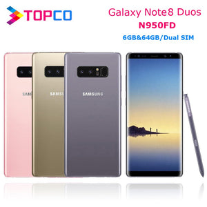 "Samsung Galaxy Note8 Duos Note 8 N950FD Global Version 4G LTE Android Phone Exynos Octa Core 6.3"" Dual 12MP RAM 6GB ROM 64GB NFC"