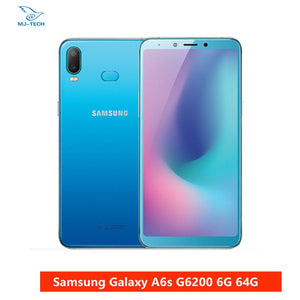 "Samsung Galaxy A6s G6200 6GB 64GB 6.0"" FHD+ 6GB RAM 64GB ROM Snapdragon 660 Octa Core Mobile Phone 3300mAh Android Cellphone"