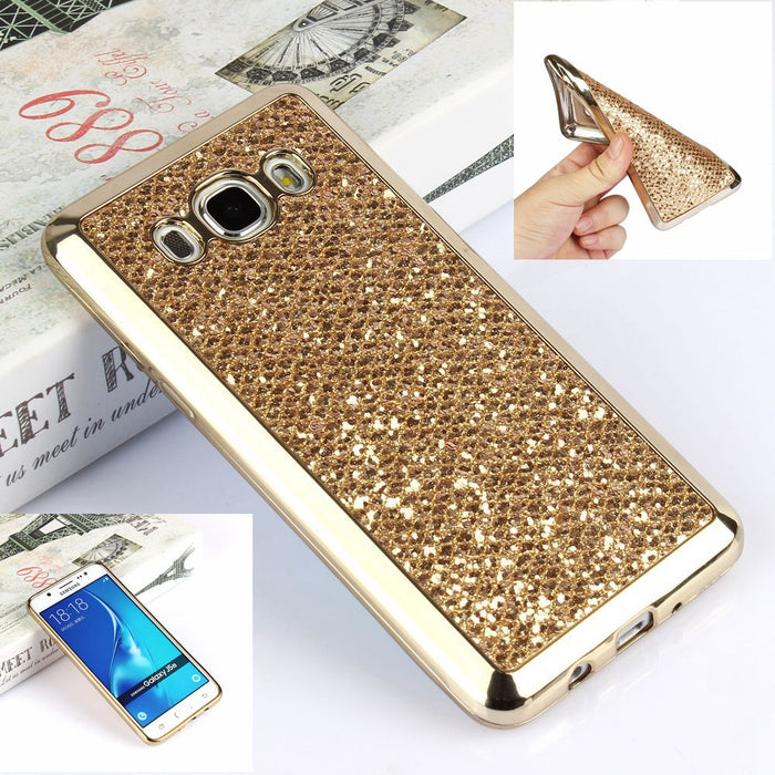 Luxury Glitter Bling Case For Samsung Galaxy J5 2016 J510 J510F J510FN J5 2015 J500 J500F Soft Silicon Cover Capa fundas