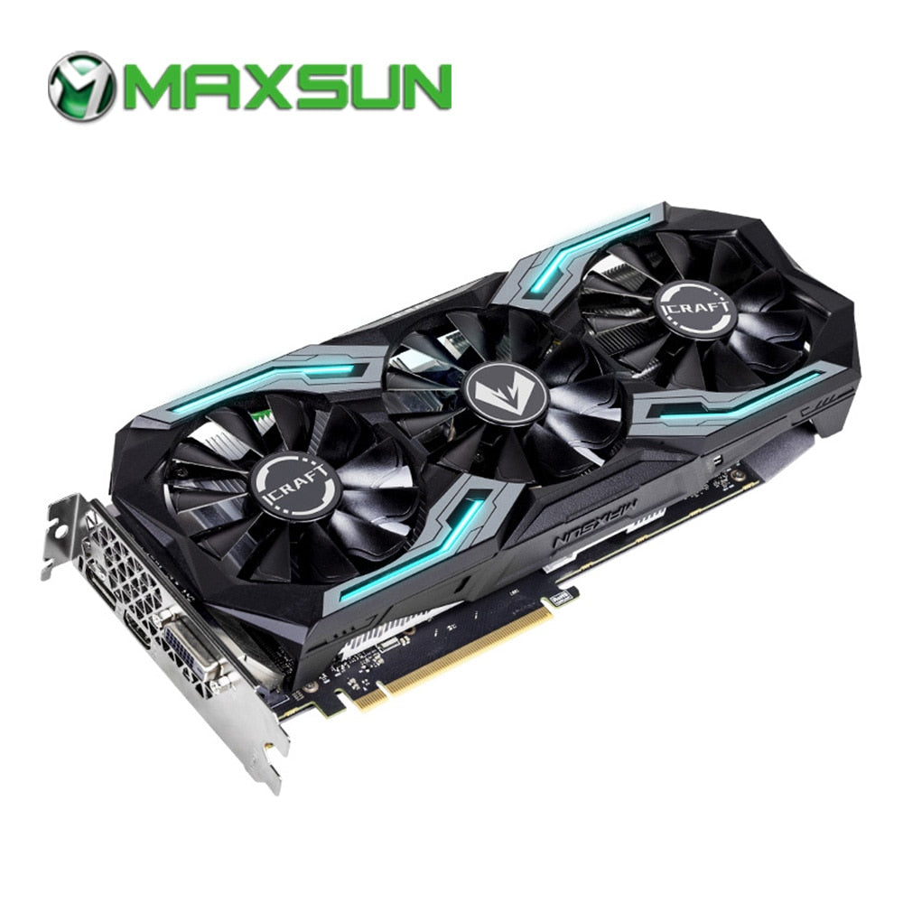 MAXSUN graphic card rtx 2060 iCraft 6G 192bit GDDR6 12nm TU106 1920units 1365MHz 14000MHz HDMI+DP+DVI pc video card gtx 960