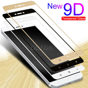 9D Full Cover Tempered Glass For Xiaomi Redmi 5 plus 4X 4A For Redmi Note 4X 5A S2 Note 4 Global Version Phone Screen Protector