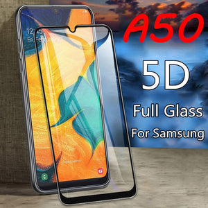 5D Toughed Tempered Glass For Samsung Galaxy A50 Protective Glass For Samsung Galaxy A70 A40 A30 A20 A10 Hard Screen Protector