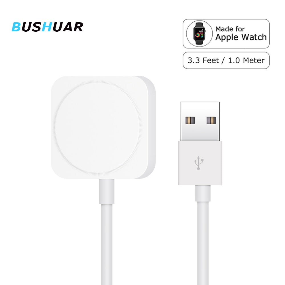 Bushuar Charger Cord for Apple Watch Charger Wireless Magnetic Charging USB Cable 1M Adapter for Apple Watch Series 4 3 2 1