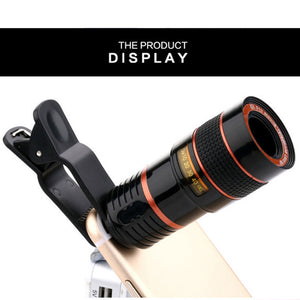 Etmakit 8x Zoom Optical Telescope Mobile Phone Camera Lens with Clip for iPhone Samsung HTC Huawei Sony NK-Shopping