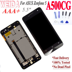 "5.0"" Original For ASUS Zenfone 5 A500KL A500CG A501CG T00J LCD Touch Screen Digitizer for Zenfone 5 Display Free Shipping"