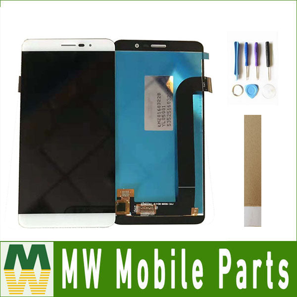 1PC/Lot For Coolpad E570 LCD Display+Touch Screen Assembly Digitizer Black White Gold Color with tape&tools