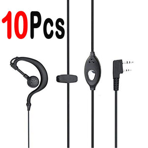 10pcs earphone phoearpiece baofeng uv-5r headsets Walkie Talkie for uv 5r UV-B5 BF-888S for Wouxun TYT HAM CB Radio Accessories