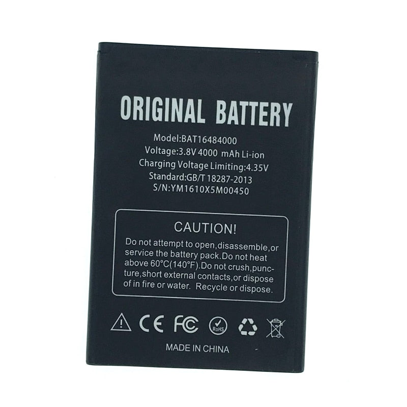 In Stock BAT16484000 NEW High Quality 4000mAh Battery For Doogee X5 Max Pro Mobile Phone Replacement + Tracking Number
