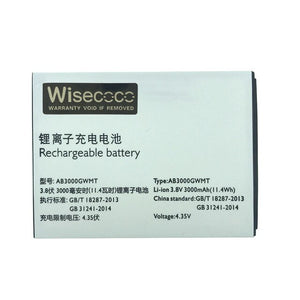 Wisecoco NEW 3000mAh AB3000GWMT Battery For Philips S616 Cell Phone +Tracking Number