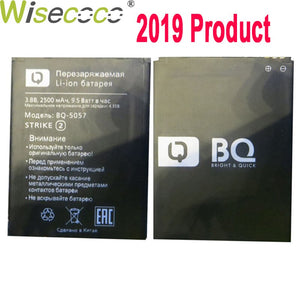 WISECOCO 2500mAh Battery For BQ BQs-5057 STRIKE2 BQS 5057 Cell Phone Latest Production High Quality Battery With Tracking Number