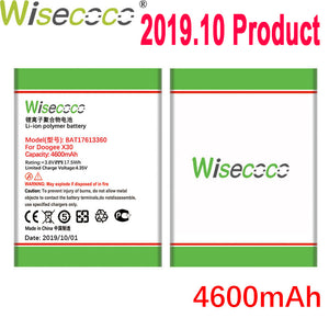WISECOCO 4600mAh BAT17613360 Battery For DOOGEE X30 Mobile Phone Latest Production High Quality Battery With Tracking Number