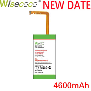 Wisecoco HB494590EBC 4600mAh New High quality Battery For Huawei Honor 7 Battery Glory PLK-TL01H ATH-AL00 PLK-AL10 PHONE