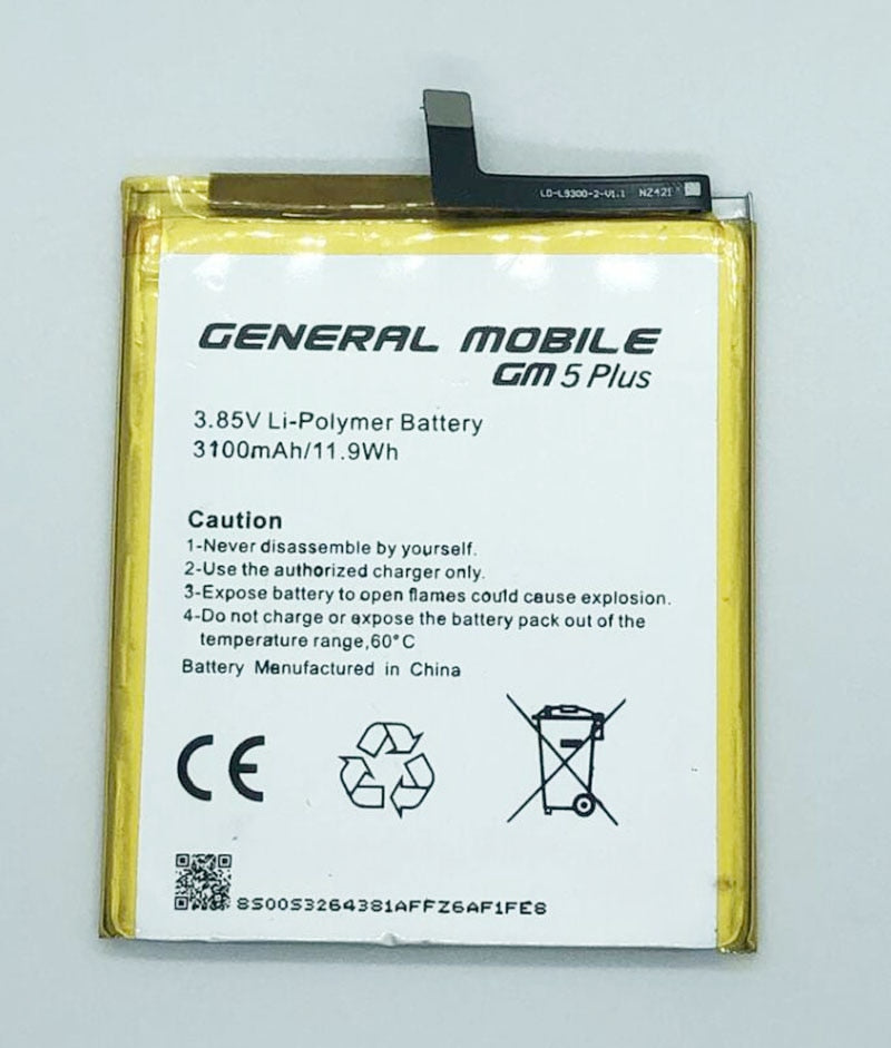 GeLar 3100mAh Battery Bateria Batterij For General Mobile GM 5 GM5 Plus 5Plus Android One Cell Mobile Phone Batterie