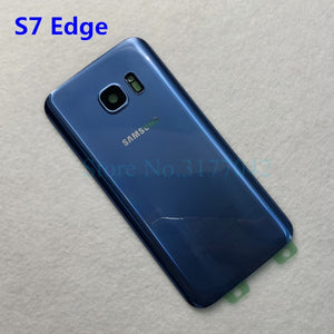 SAMSUNG Galaxy S7 G930F / S7 EDGE G935F Back Glass Battery Cover Rear Door Housing Case Samsung S7 Edge Back Glass Cover
