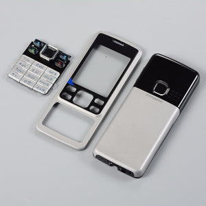 For Nokia 6300 Display Cover Middle Frame housing Case+KeyBoard Back Door English/Russian keypads+Tools