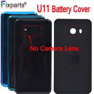 "For HTC U11 U-3w W-1w Back Cover Case Battery Door Without Camera Lens Glass Housing 5.5"" For HTC U11 Battery Cover"