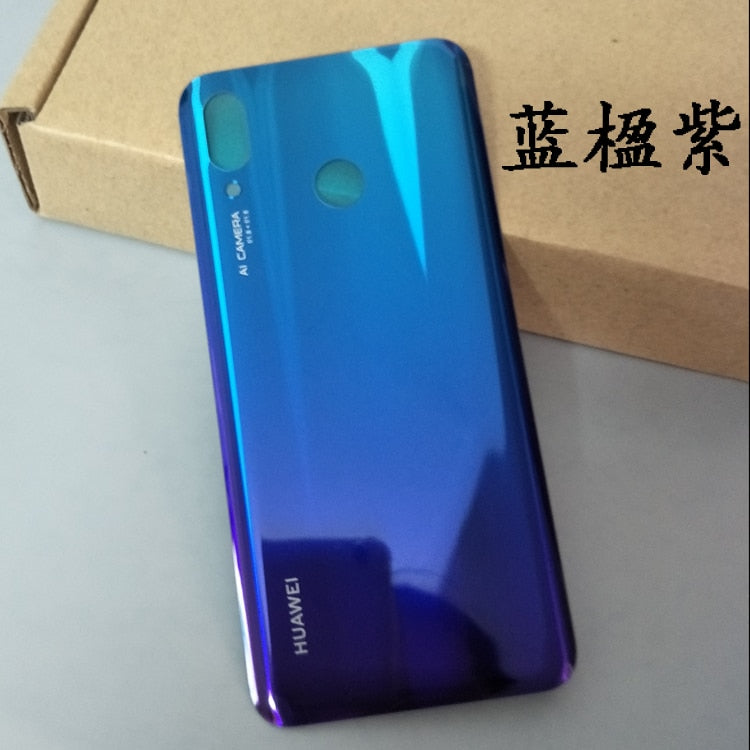 For Huawei Nova 3 Back Battery Cover Housing Glass Plastic For Huawei Nova3 Rear Battery Door Replacement Spare Parts + 3M Tape