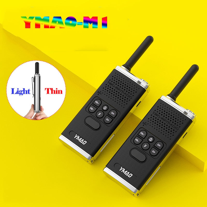 (2pcs) YMAO Walkie Talkie uhf PMR446 PRS462 Portable  ham Radio Communicator powerful walkie-talkies Flashlight HF Transceiver