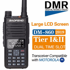 2019 Baofeng DM-1801 Digital Walkie Talkie DMR Tier1 Tier2 Tier II Dual time slot Digital  Radio Compatible With Motorola DM-860