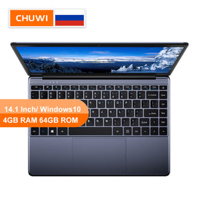 CHUWI Original HeroBook 14.1 Inch Laptop Windows 10 Intel E8000 Quad Core 4GB RAM 64GB ROM Laptop Borderless keyboard