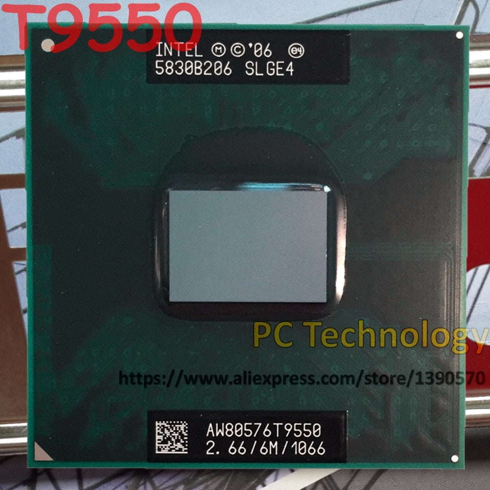 Original Intel T9550 Core2 Duo CPU T9550 (6M Cache, 2.66GHz, 1066MHz FSB) laptop processor Socket 479 GM45/PM45 free shipping