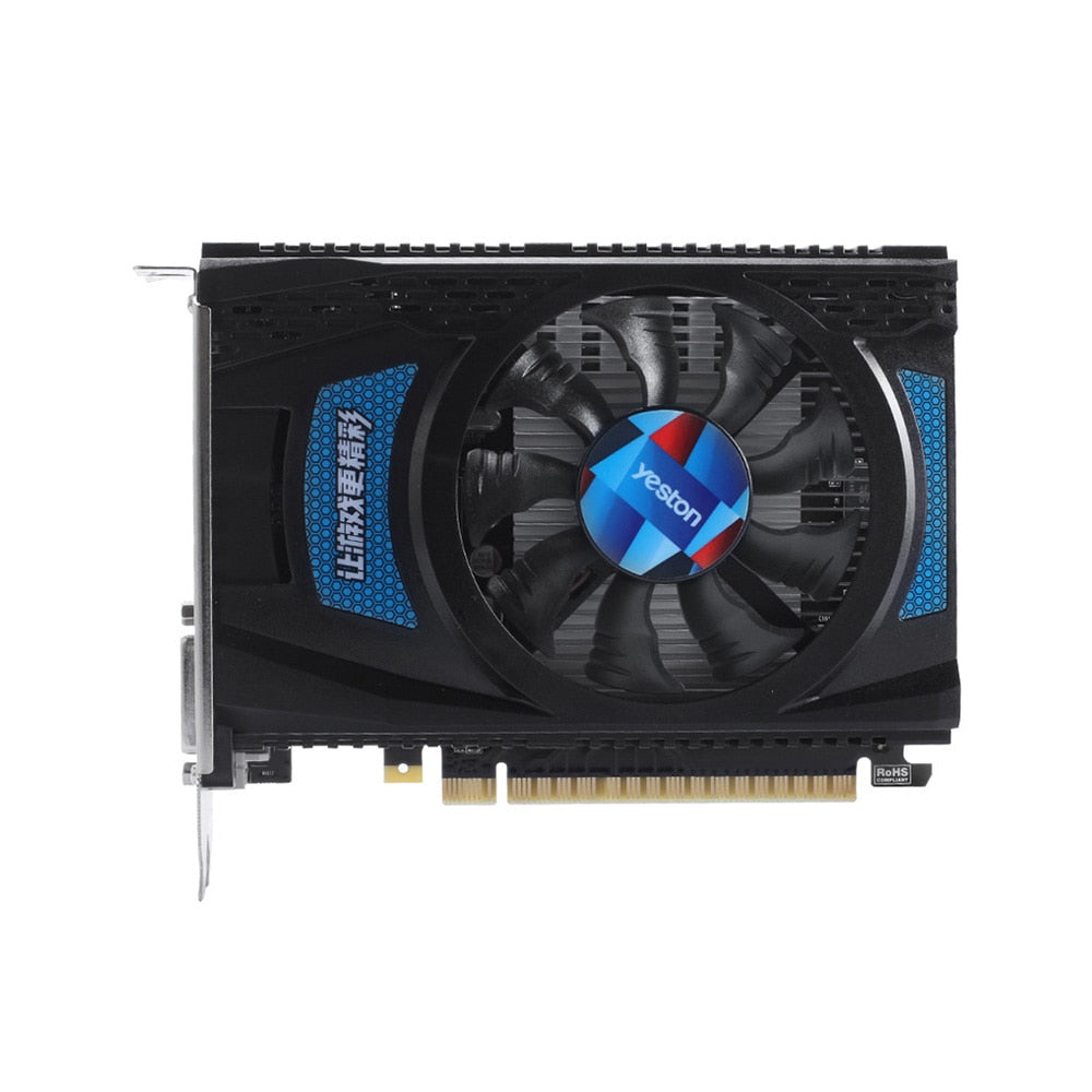 Yeston RX550--4G D5 Graphics Cards Radeon Chill 4GB Memory GDDR5 128Bit 6000MHz DP1.4HDR+HDMI2.0b+DVI-D Small Size GPU