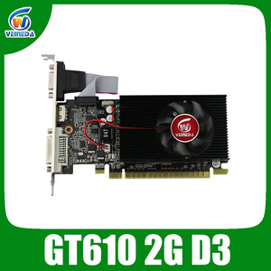 VEINIDA graphics card GT610 display vga cards  2GB DDR3 700/1000MHz for nVIDIA Geforce Game PC