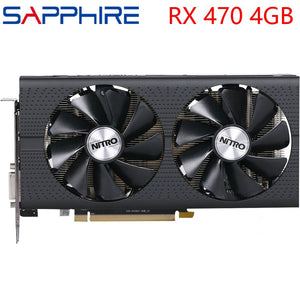 SAPPHIRE Video Card RX 470 4GB 256Bit GDDR5 Graphics Cards for AMD RX 400 series VGA Cards RX470 DisplayPort 570 580 480 Used