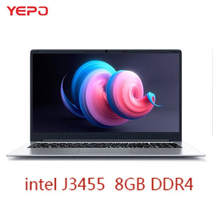 YEPO Notebook Computer 15.6 inch 8GB RAM DDR4 128GB/256GB/512GB 1TB SSD intel J3455 Quad Core Laptops With FHD Display Ultrabook