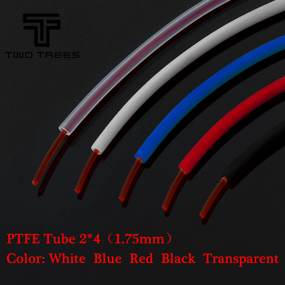 1M PTFE Tube ID 2mm OD 4mm Clear ptfe PiPe J-head hotend RepRap Rostock Bowden Extruder Throat For 1.75mm filament  3d V5 V6