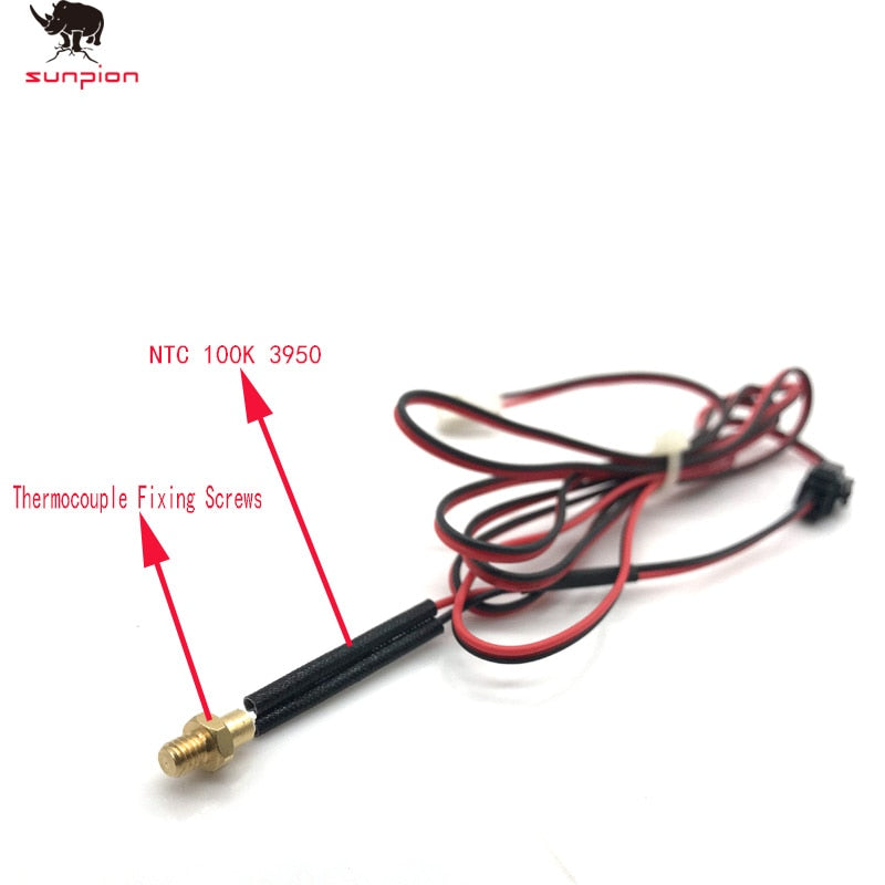 3D printer head thermistor M4/ M3 Screw thermocouple 100K NTC100 3950 3D printer accessories screw temperature sensor