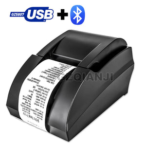 Bluetooth USB Thermal Receipt Printer 58mm POS Printer For Mobile Phone Android Windows For Supermarket and Store