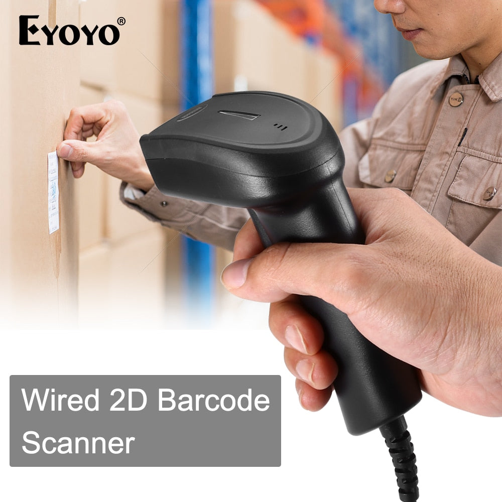 Eyoyo EY-006Y QR Barcode Scanner Portable Wired 1D 2D USB Bar Code Reader For Windows DataMatrix 2D Code Scanner PDF417