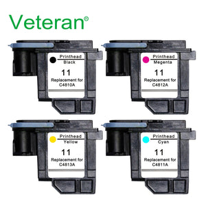 Veteran C4810A C4811A C4812A C4813A for hp 11 printhead hp11 for HP Designjet 70 100 110 111 120 500 510 1100 Printheads Printer