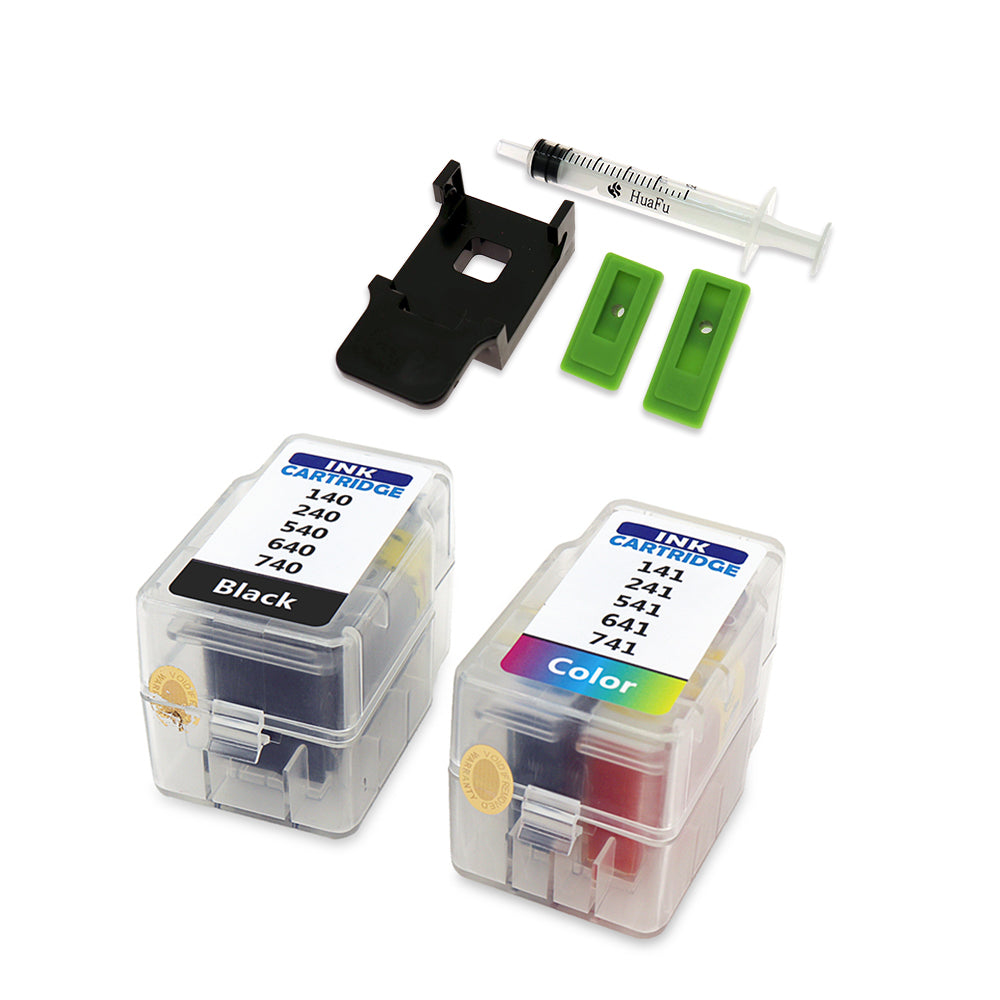 For Canon Smart Cartridge Refill Kit PG 740 CLI 741 140 141 240 241 540 541 640 641 Ink Cartridges with syringe with clip tool