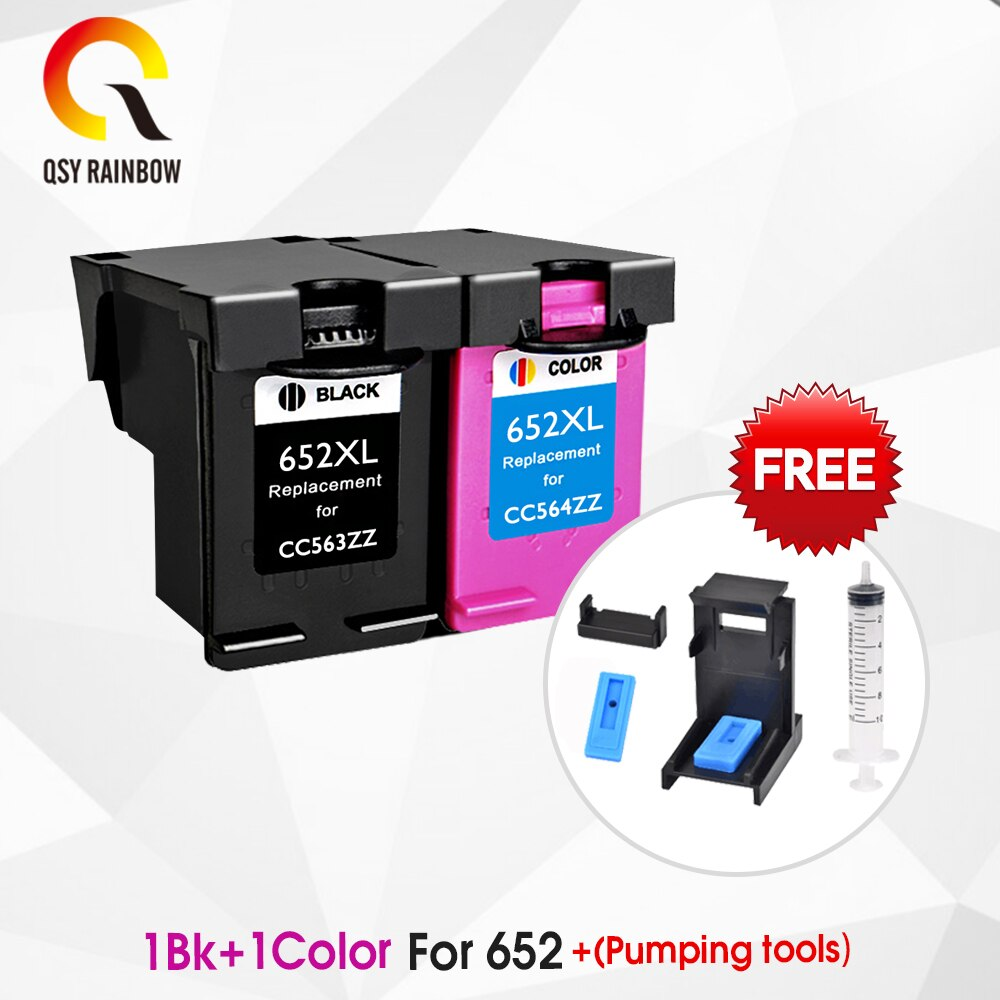 CMYK SUPPLIES 652XL hp652 ink cartridge replacement for HP 652 XL for HP Deskjet 1115 1118 2135 2136 2138 3635 3636 3835 4535